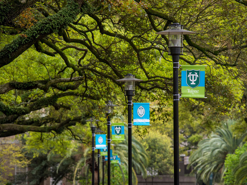 Tulane flags line McAlister